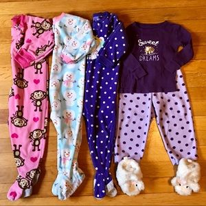 18Mo. Girl's warm pajamas and slippers